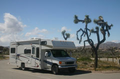 Camper in Californie